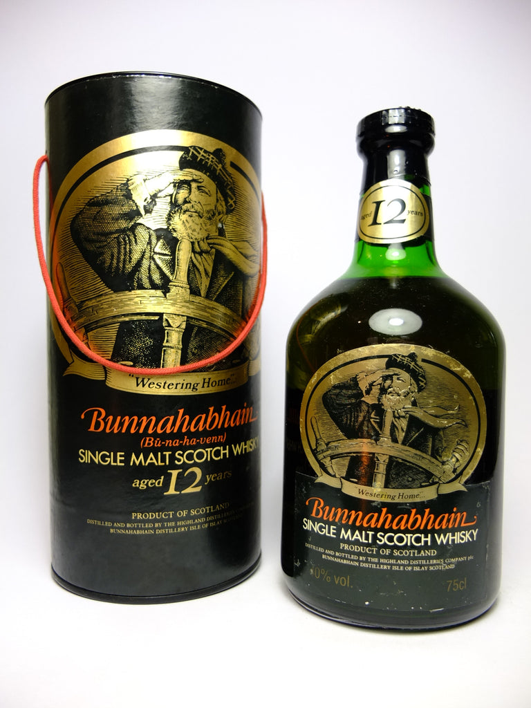 Bunnahabhain 12YO Single Islay Malt Scotch Whisky - 1980s (40%, 75cl)