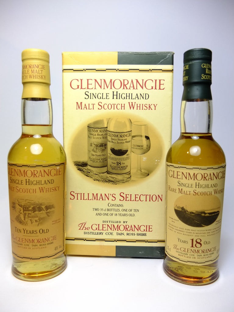 Glenmorangie Stillman's Selection: 10YO & 18YO Single Malt Whiskies - 1990s (40-43%, 2 x 35cl)