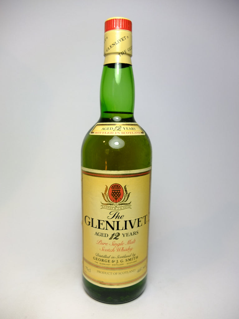 The Glenlivet 12YO Highland Single Malt Scotch Whisky - 1980s (40%, 75cl)