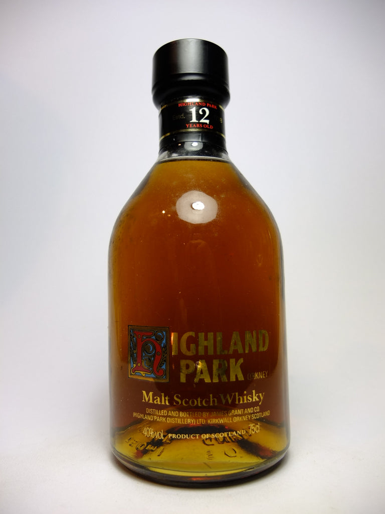 Highland Park 12YO Single Malt Scotch Whisky - 1980s (40%, 75cl)
