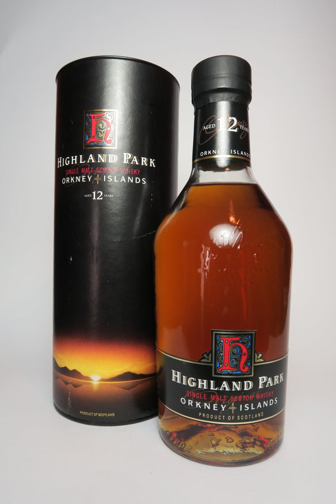 Highland Park 12YO Orkney Single Malt Whisky - 1990s (40%, 70cl)