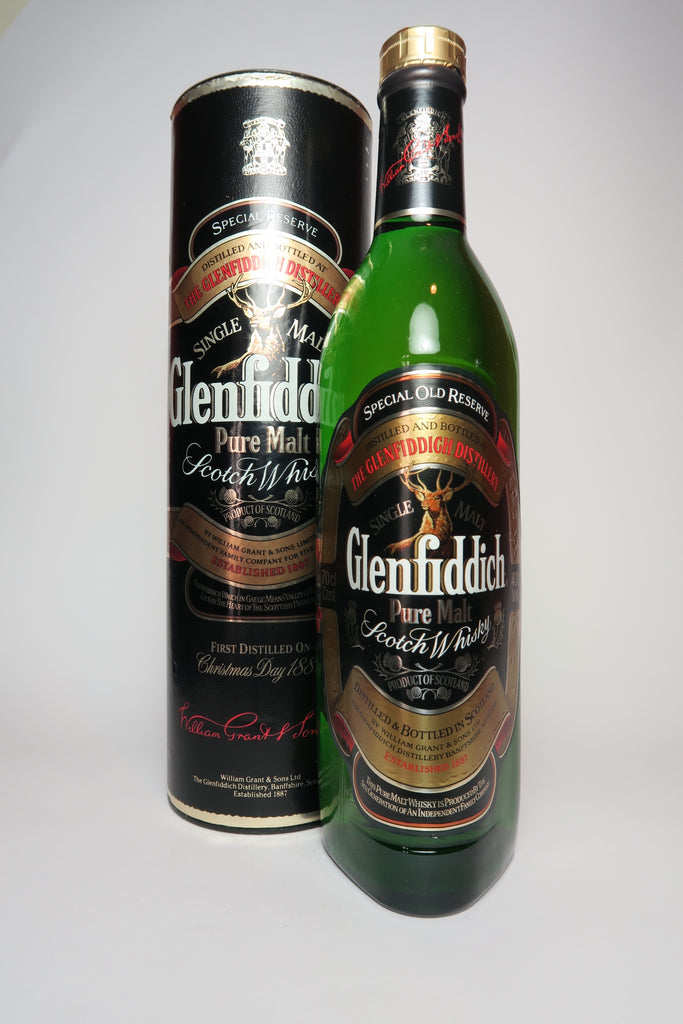Glenfiddich Pure Malt Scotch Whisky - 1990s (40%, 75cl)