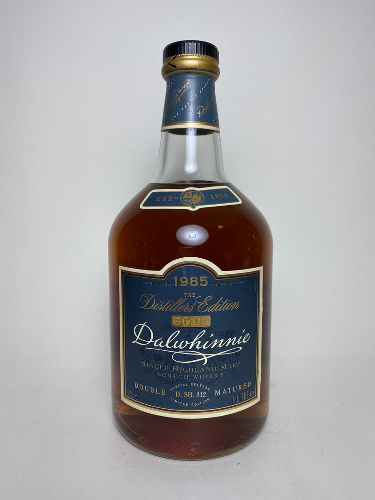Dalwhinnie Distillers Edition Double Matured 16YO Highland Single Malt Scotch Whisky - Distilled 1985 / Bottled 2001 (43%, 100cl)