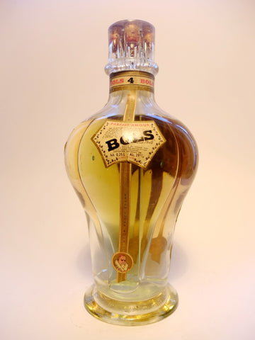 Bols Four Compartment Liqueur Bottle (Curaçao/Triple Sec, Mandarine, Parfait Amour - 1950s (26%, 94.6cl)