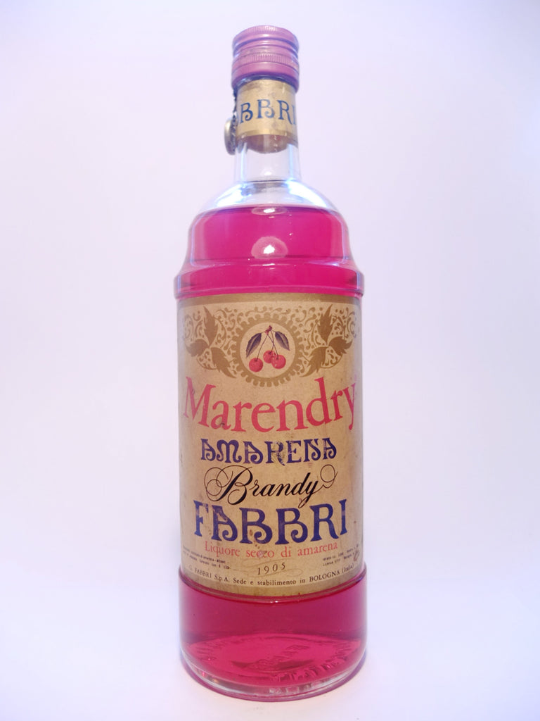 Fabbri Marendry Amareisa Cherry Brandy - 1949-1959 (ABV Not Stated, 100cl)
