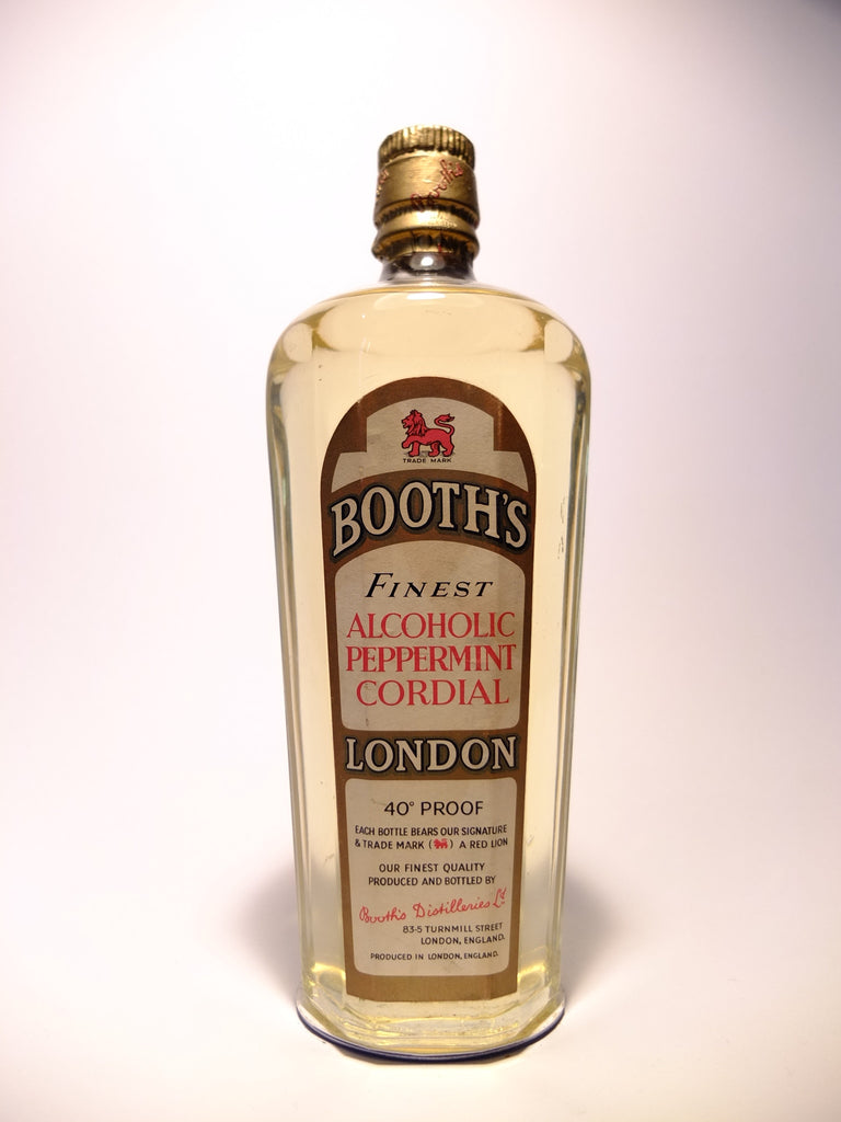 Booth's Finest Alcoholic Peppermint Cordial - 1940s (23%, 75cl)