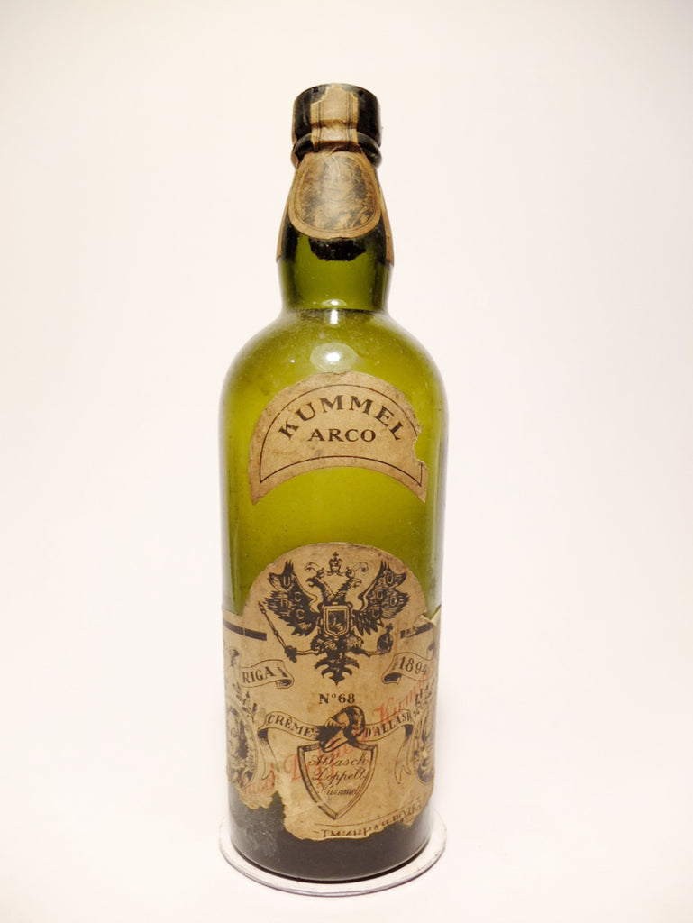 Arco Allasch Doppell Kummel (No. 68) - 1930s	(ABV Not Stated, 50cl)