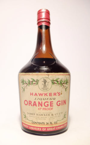 James Hawker's Orange Gin Liqueur - 1960s (27%, 74cl)