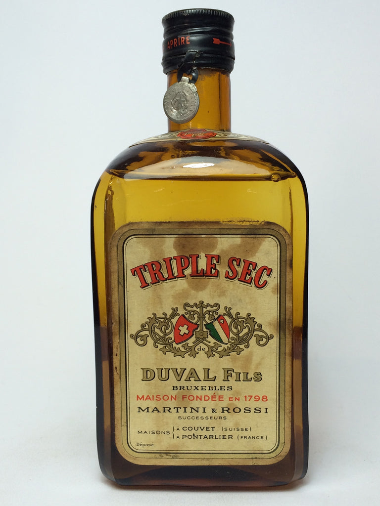 Martini & Rossi Duval Fils Triple Sec - 1949-59 (ABV Not Stated, 75cl)