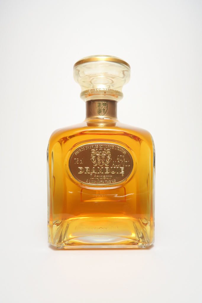 Drambuie in Square Clear Glass Decanter - 1980s (40%, 75cl)