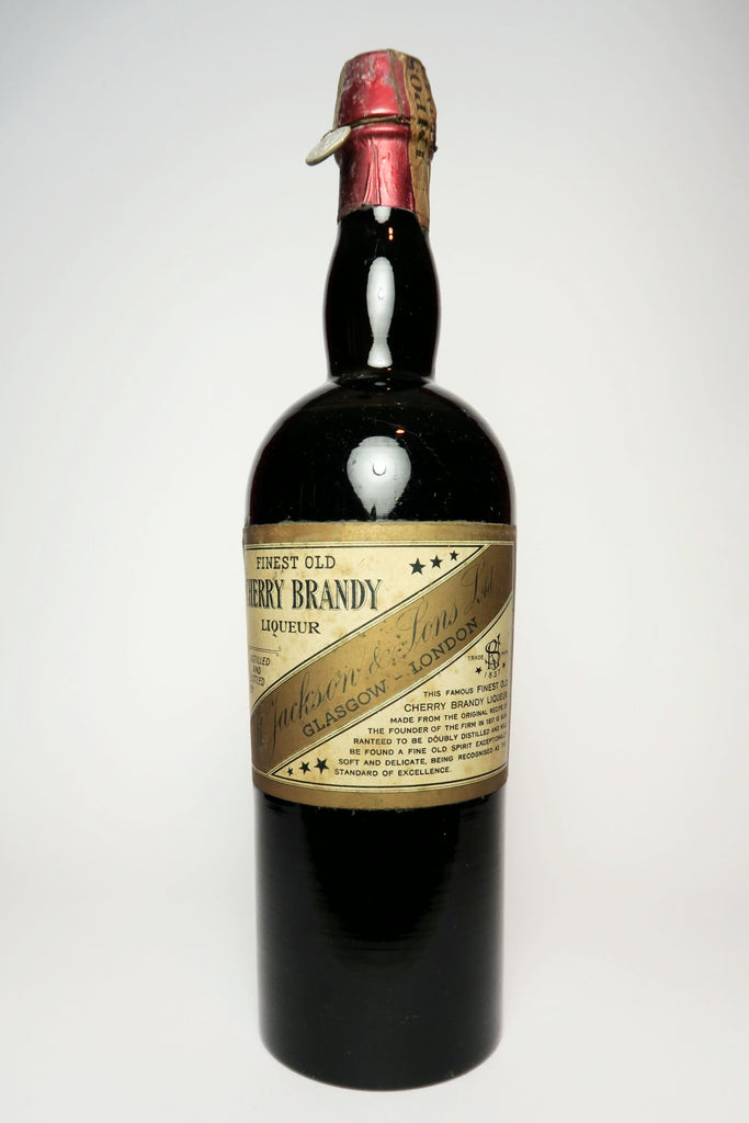 Jackson & Sons Finest Old Cherry Brandy Liqueur - 1933-44 (45%, 100cl)