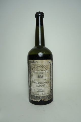 Justerini & Brooks Finest Quality Dry Dutch Orange Curaçao - early 1920s (ABV Not Stated, 75cl)