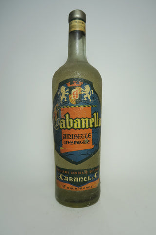 J. Cabanel Cabanella Anisette d'Espagne - 1950s (ABV Not Stated, 100cl)