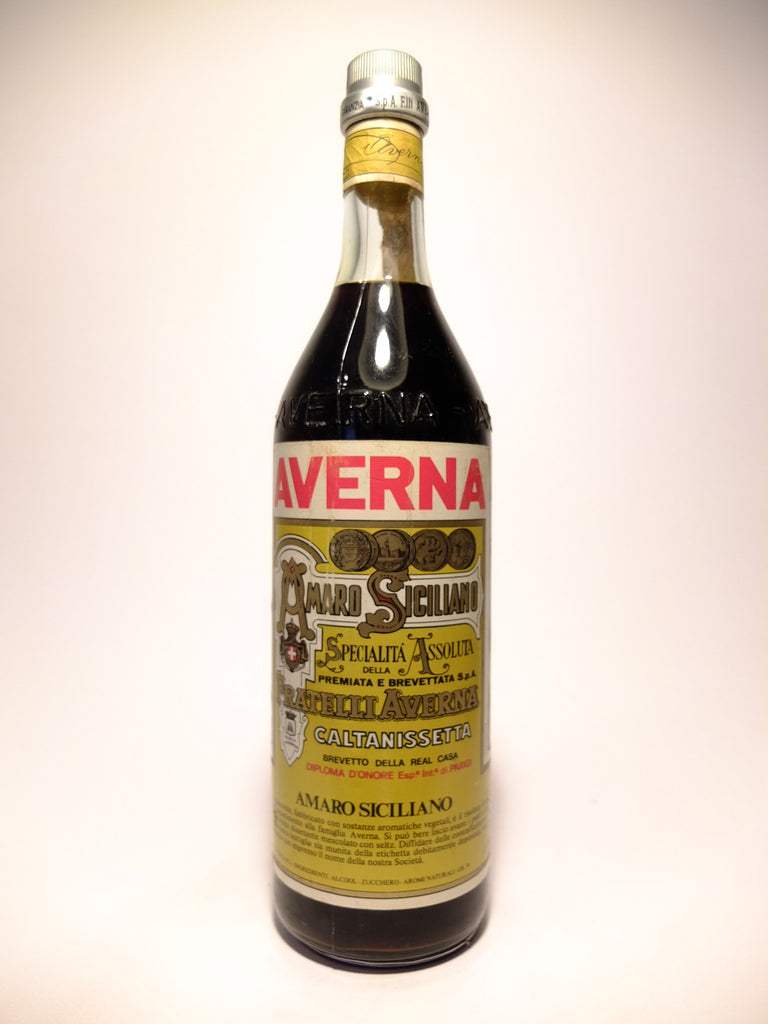 Averna Amaro Siciliano - Late 1970s/Early 1980s	(34%, 100cl)