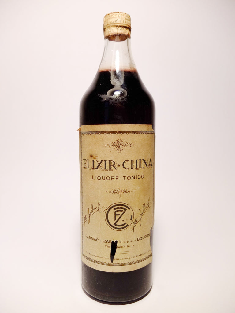Farmac Zabban Elixir China Liquore Tonico - 1960s	(ABV Not Stated, 100cl)