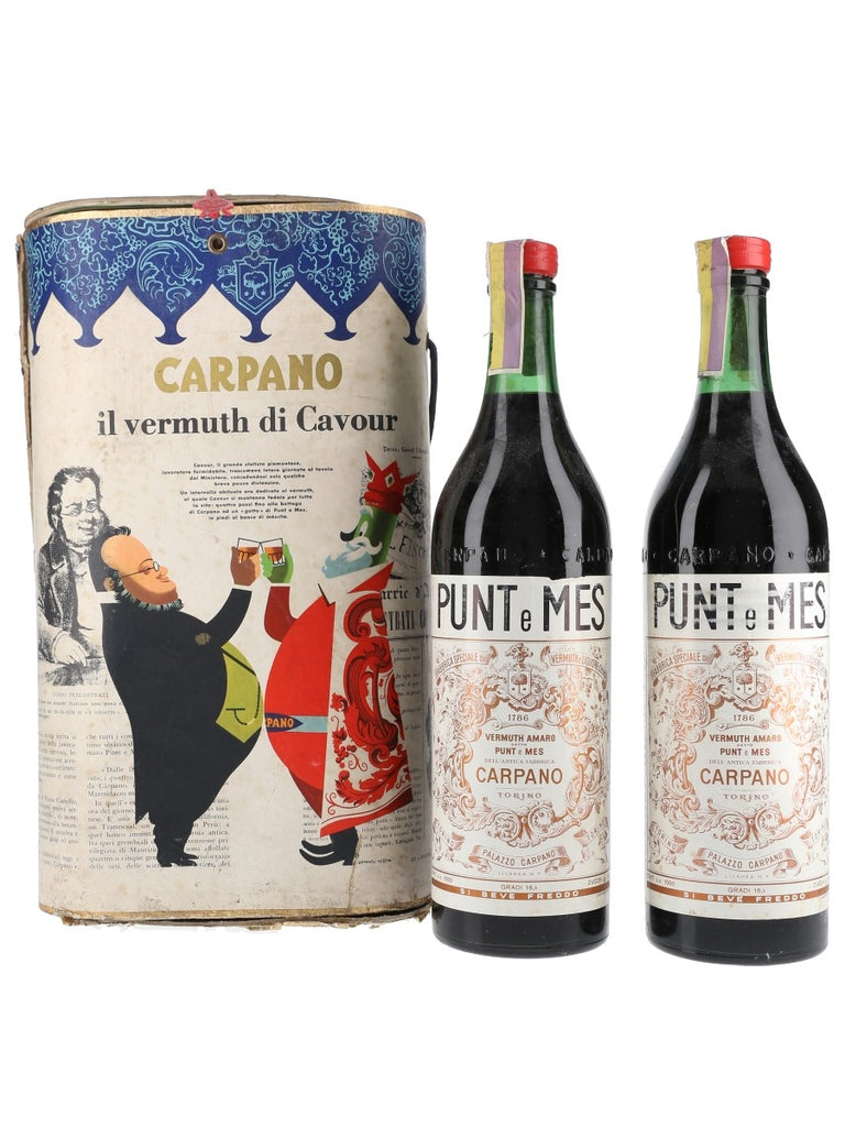 Box Set Two of Carpano 'Punt e Mes' Vermuth Amaro - early 1960s (16.5%, 100cl each)