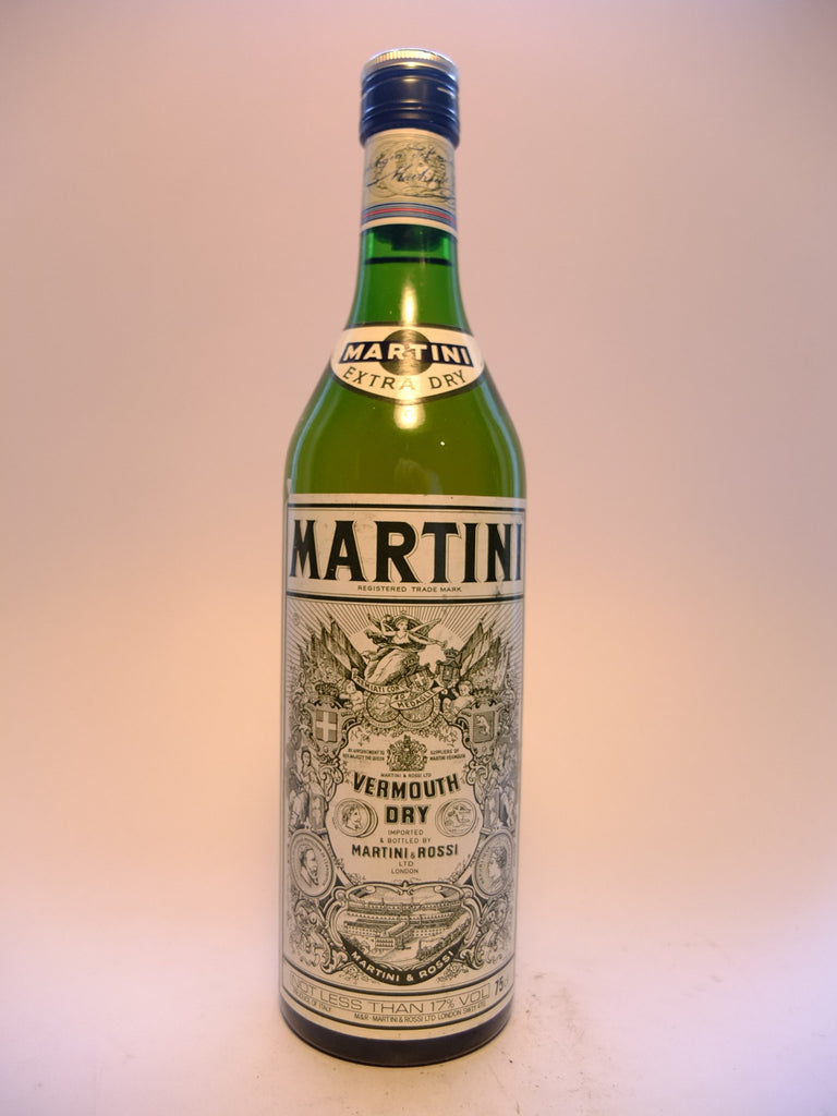 Martini & Rossi Dry White Vermouth - 1980s (17%, 75cl)