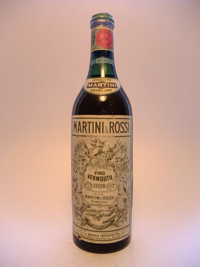 Martini & Rossi Dry White Vermouth - 1950s (18%, 88.8cl)