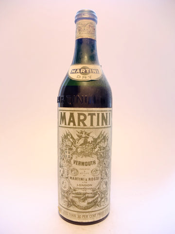Martini & Rossi Dry White Vermouth - 1950s (17%, 100cl)