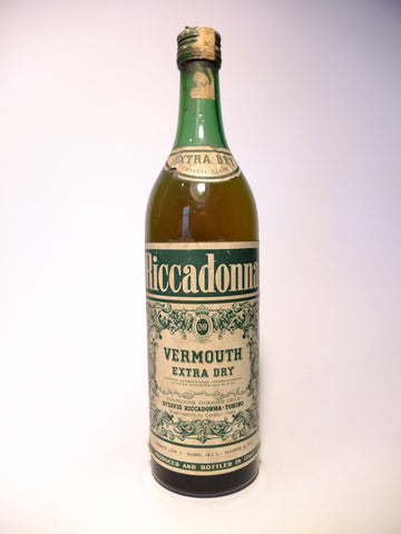 Riccadonna Extra Dry White Vermouth - 1960s (18.5%, 100cl)