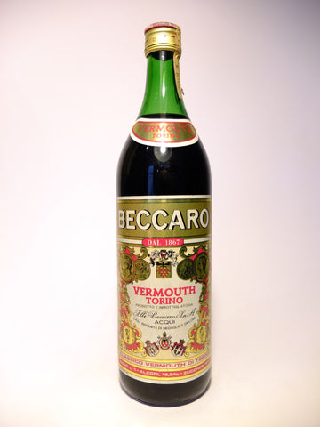 Beccaro Red Vermouth - 1970s (16.5%, 100cl)