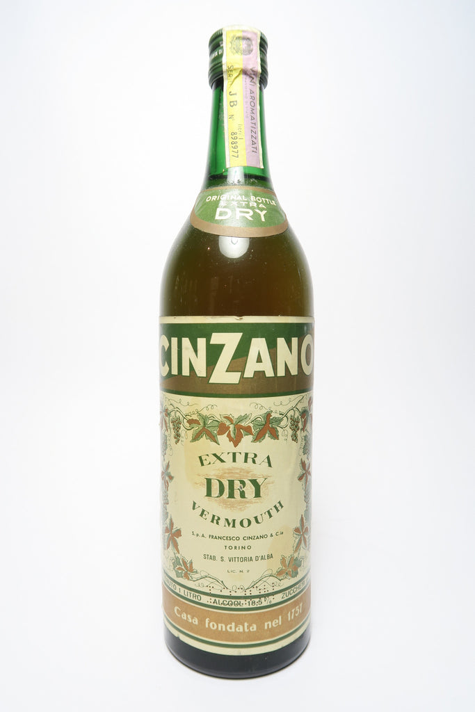Cinzano Extra Dry White Vermouth - 1970s (ABV Unspecified, 100cl)