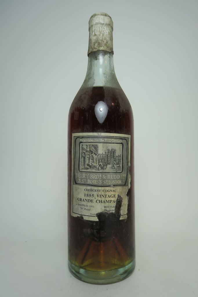 Berry Bros & Rudd Choicest Grande Champagne Vintage Cognac - Vintage 1895 / Shipped 1951 / Bottled 1958 (40%, 70cl)