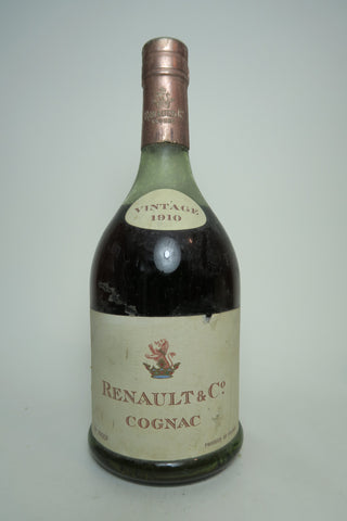 Renault & Co. Vintage Cognac - Vintage 1910 / Bottled 15 April, 1960 (40%, 70cl)