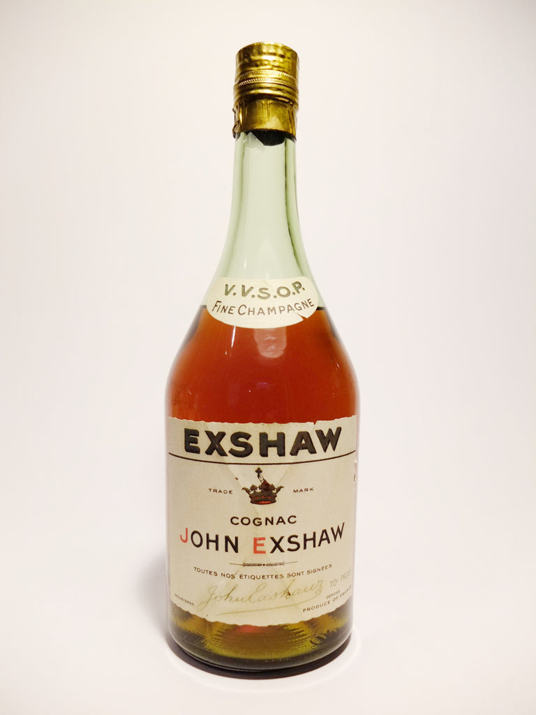 John Exshaw V.V.S.O.P Fine Champagne Cognac (Very, Very Special Old Pale) - 1960s (40%, 70cl)