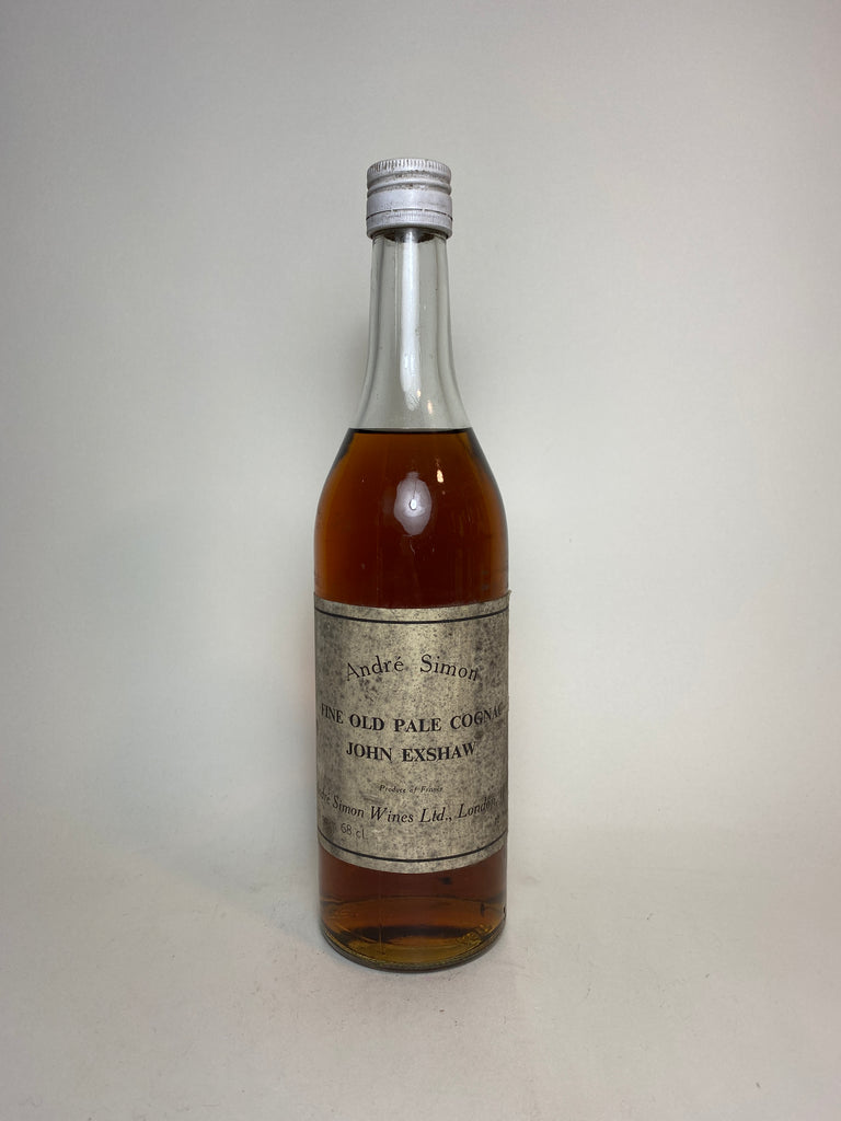 John Exshaw Fine Old Pale Cognac bottled by André Simon, London - 1960s (40%, 68cl)