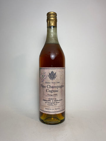 Choice Very Old Fine Champagne Cognac botled by Ehrmann & Ehrmann, London - 1900 Vintage (Not Stated, 70cl)