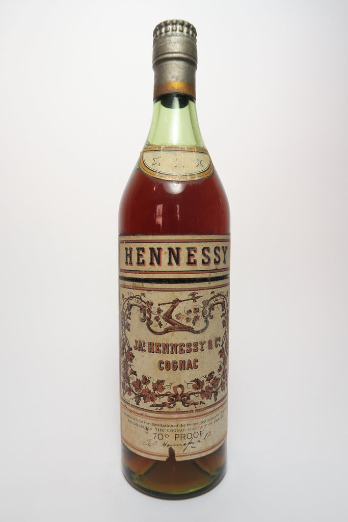 Hennessy 3* Cognac - 1950s (40%, 70cl)