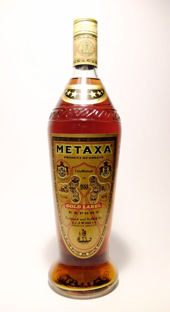 Metaxa Gold Label - 1980s (40%, 100cl)