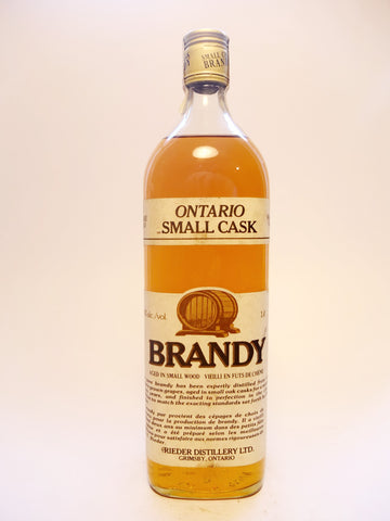 Rieder Distillery Rare Old Ontario Small Cask Brand - Distilled 1983 (40%, 100cl)