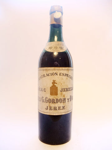 Luis G. Gordon Coñac Jerezano Spanish Brandy - 1933-1944 (45%, 75cl)