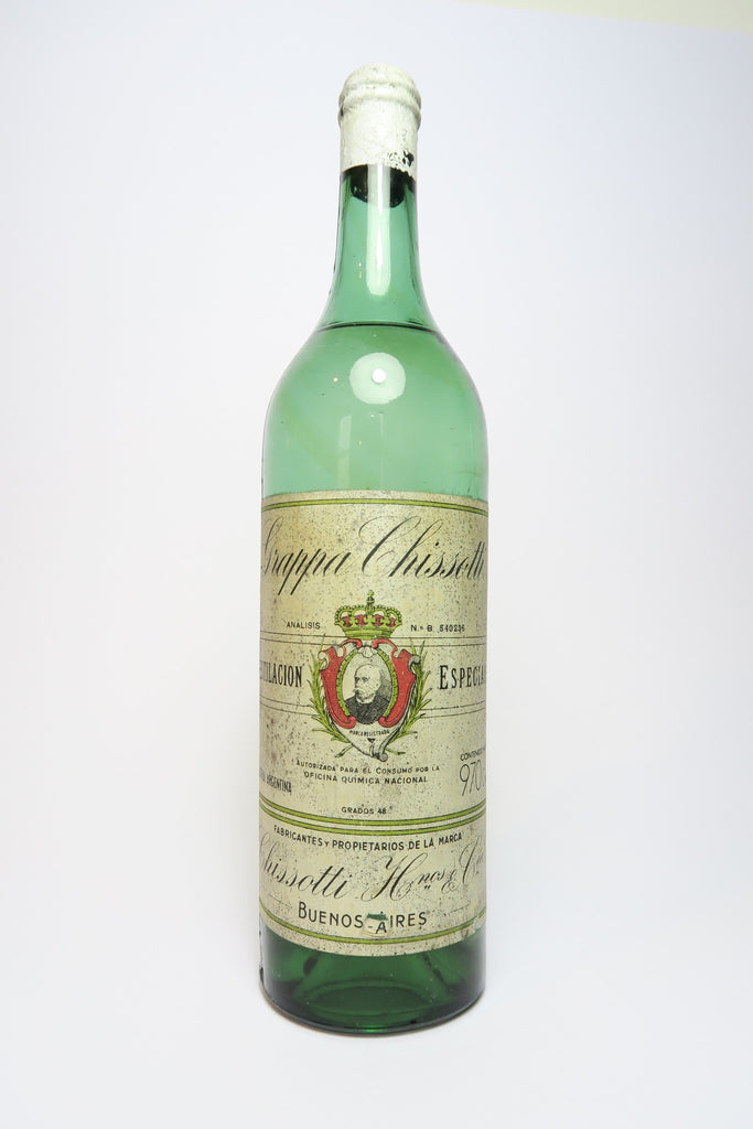 Grappa Chisotti, produced in Buenos Aires, Argentina - 1930s (48%, 97cl)
