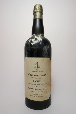 Butler, Nephew & Co. 1960 Vintage Port - 1960 Vintage / Bottled 1962 (ABV Not Stated, 75cl)