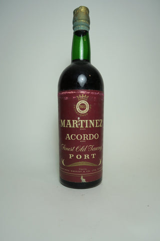 Martinez Acordo Finest Old Tawny Port - 1950s (20%, 75cl)