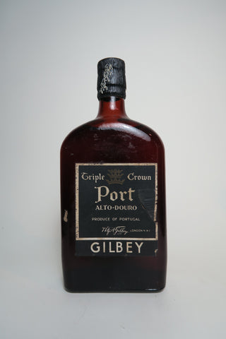 W. & A. Gilbey Triple Crown Port Alto-Douro - early 1950s (ABV Not Stated, 35cl)