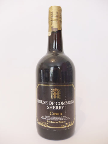 House of Commons Sherry Cream - 1970s (??% 70cl)