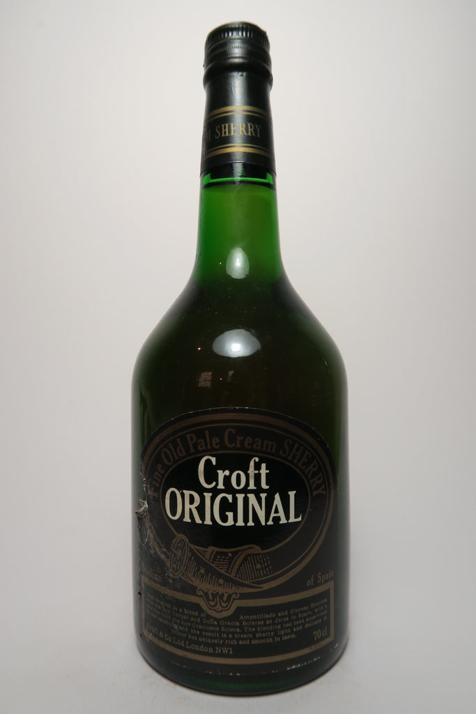 Croft Fine Old Pale Cream Sherry - 1970s (ABV Not Stated, 70cl)