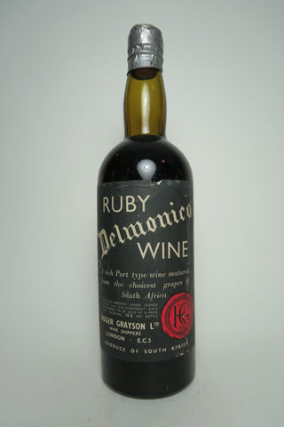 Roger Grayson's South African Delmonico Ruby Port Wine - 1950s (ABV Not Stated, 75cl)