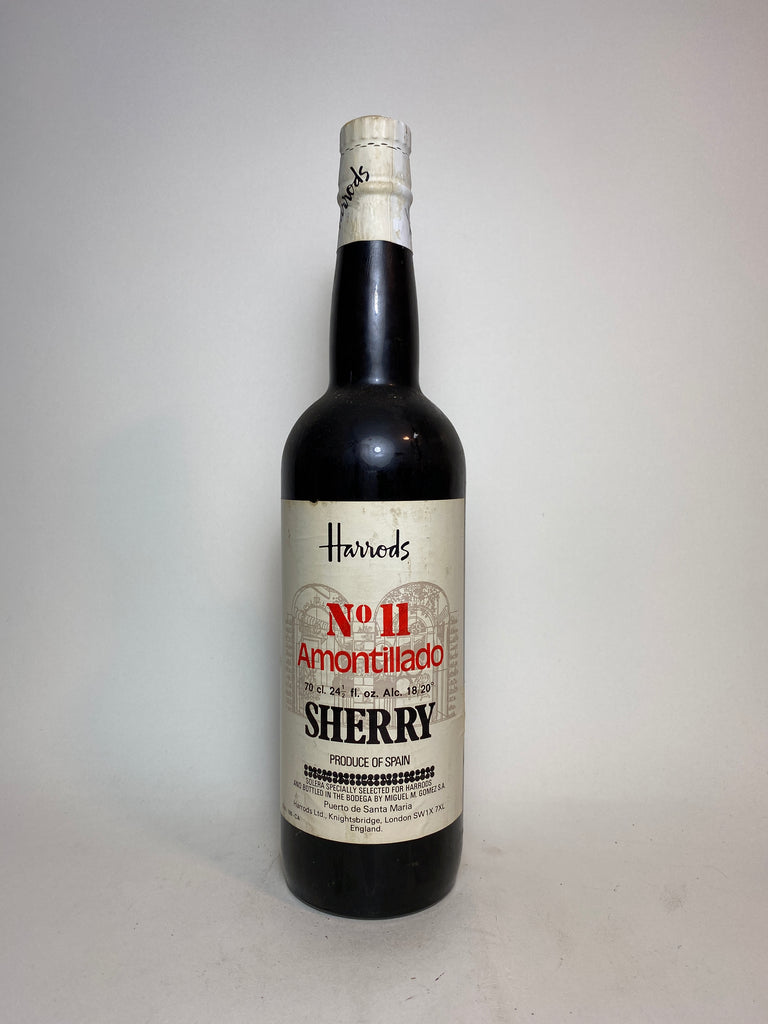 Miguel M. Gomez for Harrod's No 11 Amontillado Sherry  - 1970s (18/20%, 70cl)