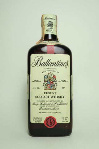 Ballantine's Finest Blended Scotch Whisky - 1970s (43%, 75cl)