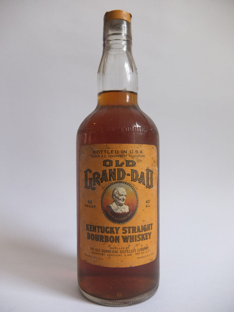 Old Grand-Dad 8YO Kentucky Straight Bourbon Whiskey - Distilled 1960 / Bottled 1968 (43%, 75.7cl)