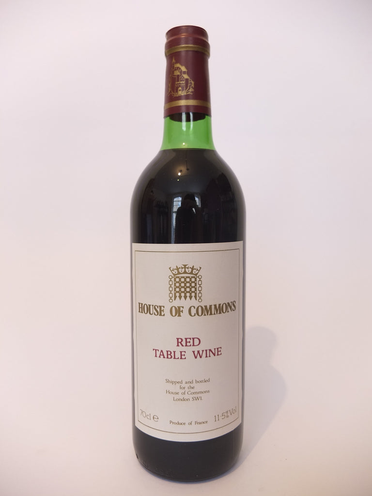House of Commons Red Table Wine - 1980s (11.5%, 70cl)