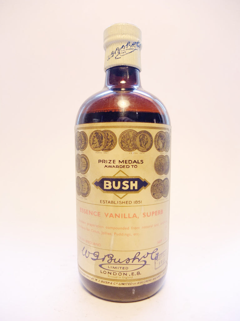 WJ Bush Essence Vanilla Superb - Early 20th Century, 1 lb.