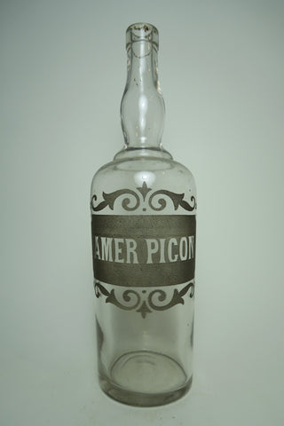 Amer Picon Etched Clear Glass Decanter - late 19th century (70cl)