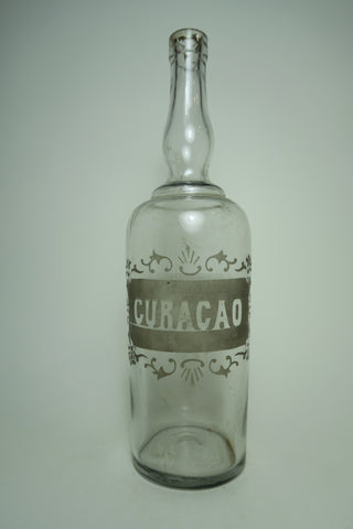 Curaçao Etched Clear Glass Decanter - late 19th century (70cl)