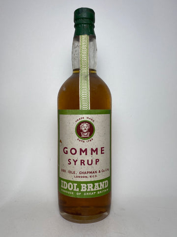 George Idol, Chapman & Co. Gomme Syrup - 1930s (0%, 75cl)
